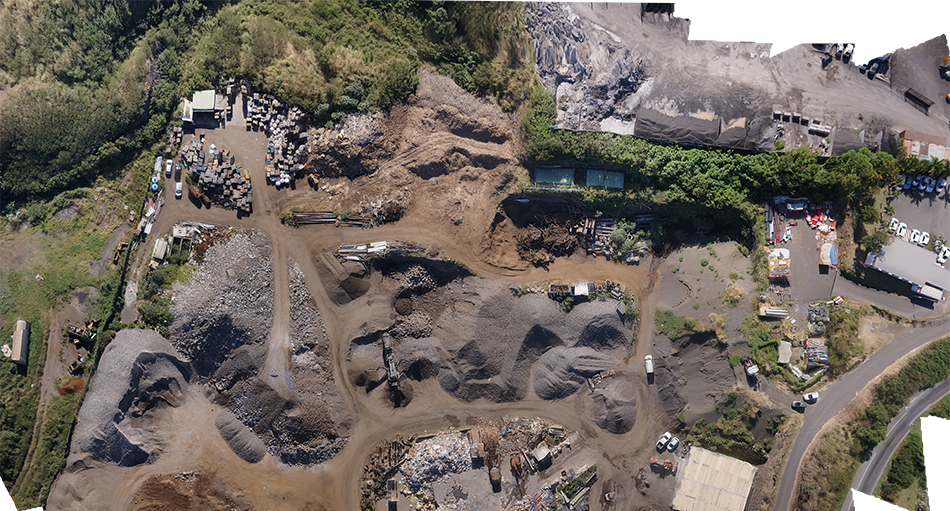 Drone Tech. Shooting by drones. orthomosaics. Saint Leu. Reunion Island.