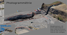 Photogrammetry with Drone Tech. Reunion Island.
